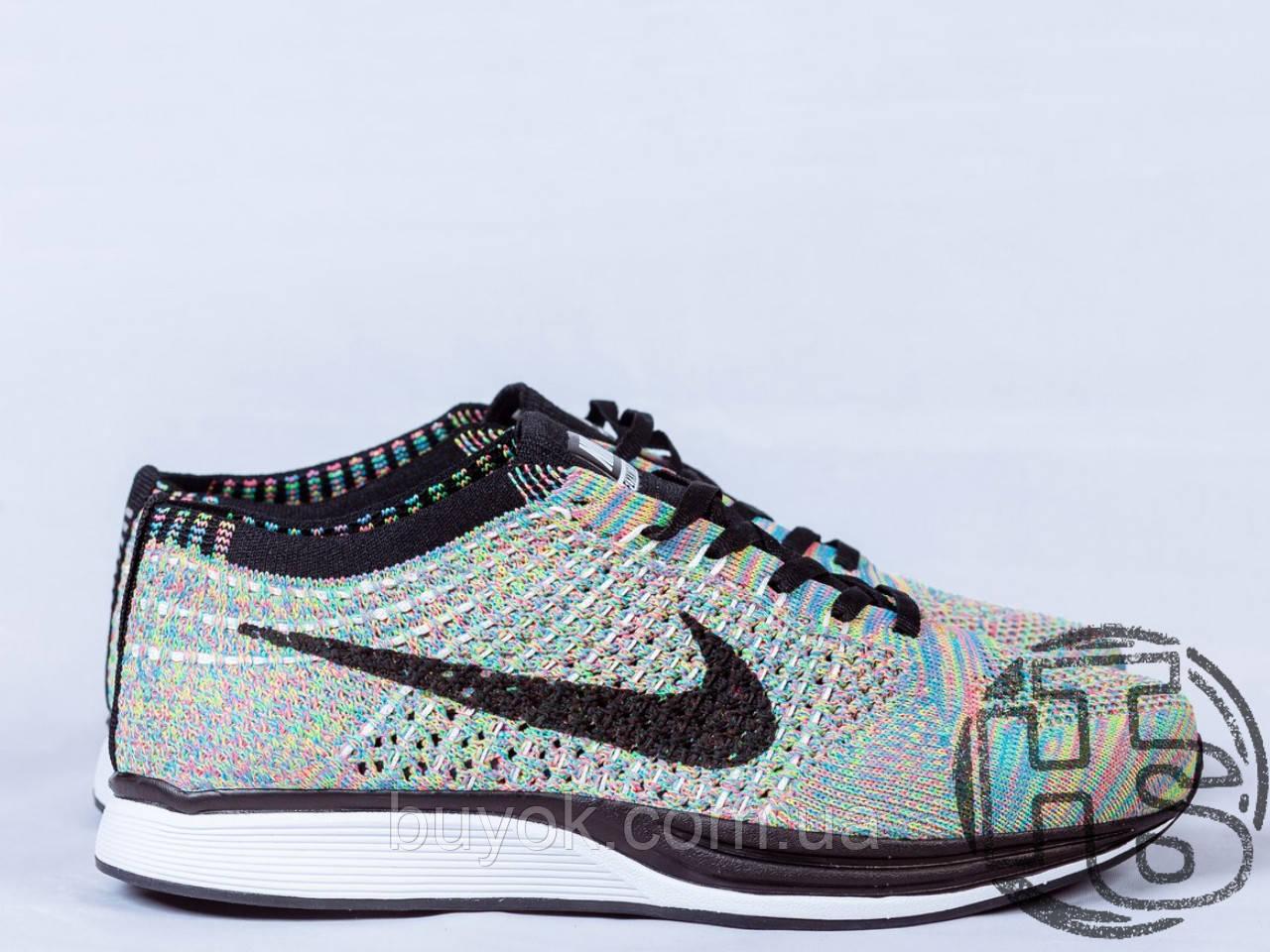 Женские кроссовки Nike Flyknit Racer Rrainbow 526628-004