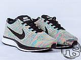 Женские кроссовки Nike Flyknit Racer Rrainbow 526628-004, фото 3