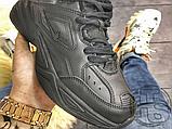 Мужские кроссовки Nike M2K Tekno Triple Black (с мехом) AO3108-012, фото 4