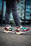 Чоловічі кросівки Nike Vaporwaffle sacai Villain Red Neptune Green DD3035-200, фото 6
