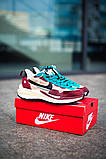 Чоловічі кросівки Nike Vaporwaffle sacai Villain Red Neptune Green DD3035-200, фото 8