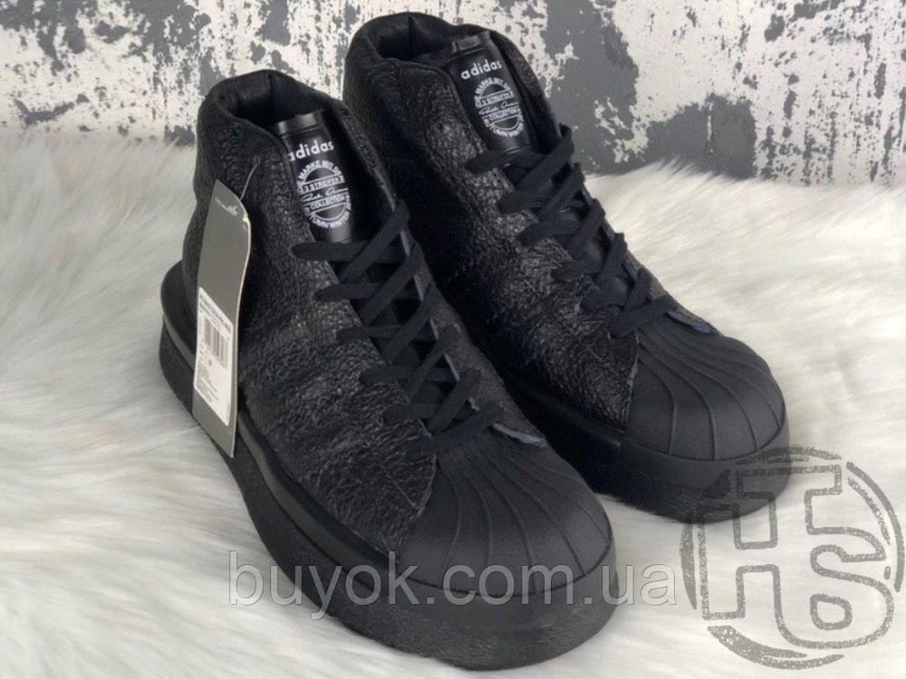 Женские кроссовки Adidas Mastodon Pro Model Rick Owens Triple Black BA9763