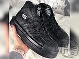 Женские кроссовки Adidas Mastodon Pro Model Rick Owens Triple Black BA9763, фото 2