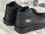 Женские кроссовки Adidas Mastodon Pro Model Rick Owens Triple Black BA9763, фото 4