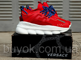 Жіночі кросівки Versace Chain Reaction 2 Chainz Red DSU7071 D7CTG D65