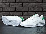 Чоловічі кросівки Adidas Stan Smith White/Green M20324, фото 3