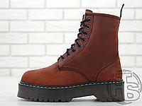 Женские ботинки Dr.Martens Jadon Bordo Boots (с мехом)