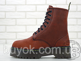 Жіночі черевики Dr.Martens Jadon Bordo Boots (з хутром)