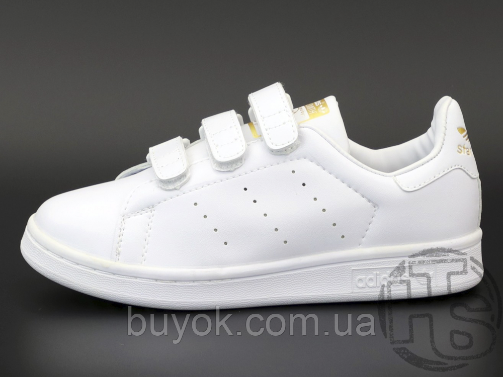 Жіночі кросівки Adidas Stan Smith Strap CF White Gold S75188
