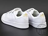 Жіночі кросівки Adidas Stan Smith Strap CF White Gold S75188, фото 4