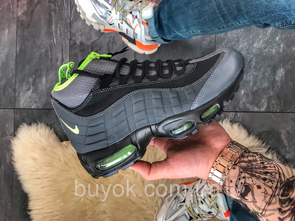 Чоловічі кросівки Nike Air Max 95 Sneakerboot Anthracite Volt 806809-003