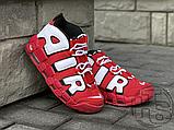 Женские кроссовки Nike Air More Uptempo University Red/Black/White CD9403-600, фото 2