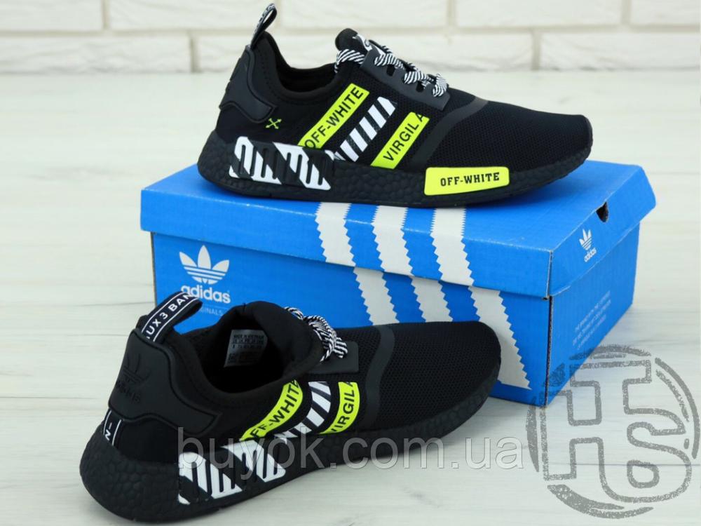 """Чоловічі кросівки Adidas NMD x Off-White """"Virgil"""" Black/Yellow BA7787"""