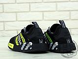 """Чоловічі кросівки Adidas NMD x Off-White """"Virgil"""" Black/Yellow BA7787, фото 2"""