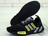 """Чоловічі кросівки Adidas NMD x Off-White """"Virgil"""" Black/Yellow BA7787, фото 4"""
