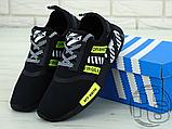 """Чоловічі кросівки Adidas NMD x Off-White """"Virgil"""" Black/Yellow BA7787, фото 5"""