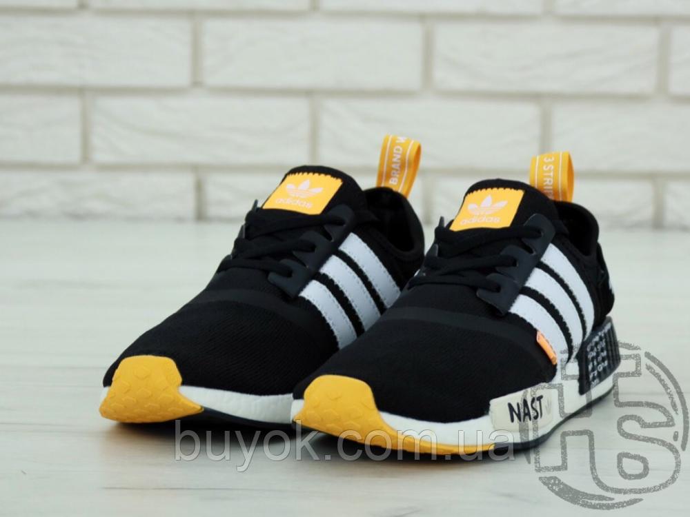 "Чоловічі кросівки Adidas NMD R1 x Off-White ""Nast"" Black/White/Orange BA8860"