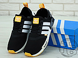 "Чоловічі кросівки Adidas NMD R1 x Off-White ""Nast"" Black/White/Orange BA8860, фото 2"