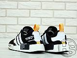 "Чоловічі кросівки Adidas NMD R1 x Off-White ""Nast"" Black/White/Orange BA8860, фото 4"