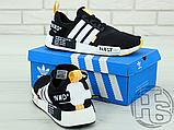 "Чоловічі кросівки Adidas NMD R1 x Off-White ""Nast"" Black/White/Orange BA8860, фото 5"