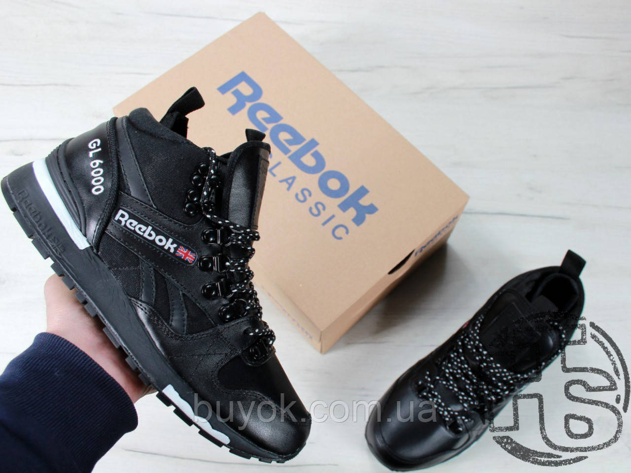 Мужские кроссовки Reebok GL6000 High-Top Winter Black 42