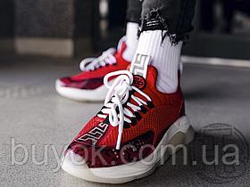 Жіночі кросівки Versace Cross Chainer Red Snakeskin DSU7349 D18PG KR3
