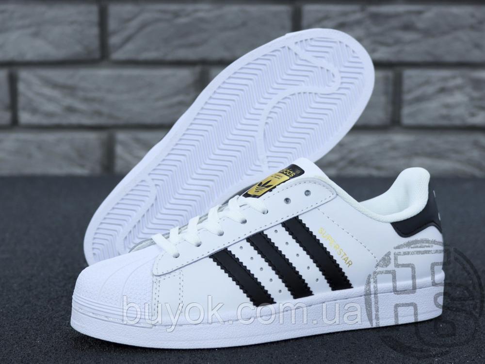 Жіночі кросівки Adidas Superstar White Black C77153