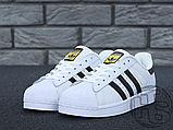 Жіночі кросівки Adidas Superstar White Black C77153, фото 2