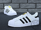 Жіночі кросівки Adidas Superstar White Black C77153, фото 4