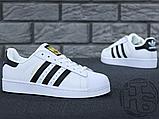 Жіночі кросівки Adidas Superstar White Black C77153, фото 5