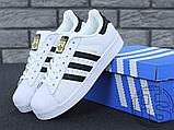 Жіночі кросівки Adidas Superstar White Black C77153, фото 6