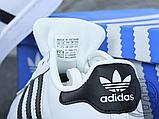 Жіночі кросівки Adidas Superstar White Black C77153, фото 7