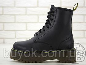 Жіночі черевики Dr.Martens Jadon Black Boots (з хутром)