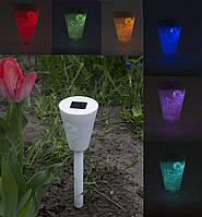 Газонный солнечный светильник LED RGB. 10 цветов, 2 режима