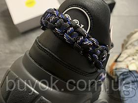 Женские кроссовки Buffalo Classic Platform Black Leather Sneaker 1533140