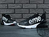 Мужские кроссовки Nike Air Max 270 Flyknit x Supreme Black/White, фото 2