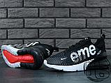 Мужские кроссовки Nike Air Max 270 Flyknit x Supreme Black/White, фото 3
