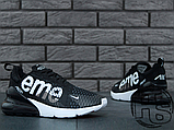 Мужские кроссовки Nike Air Max 270 Flyknit x Supreme Black/White, фото 4
