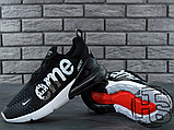 Мужские кроссовки Nike Air Max 270 Flyknit x Supreme Black/White, фото 5