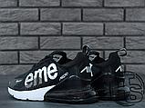 Мужские кроссовки Nike Air Max 270 Flyknit x Supreme Black/White, фото 6