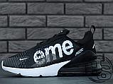 Мужские кроссовки Nike Air Max 270 Flyknit x Supreme Black/White, фото 7