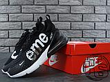 Мужские кроссовки Nike Air Max 270 Flyknit x Supreme Black/White, фото 8