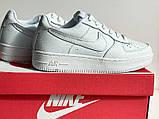 Шкіряні білі кросівки в стилі Nike air force, фото 3
