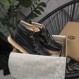 Мужские ботинки UGG David Beckham Boots Black (мужские Угг Дэвид Бекхем Ботинки Черные), фото 7