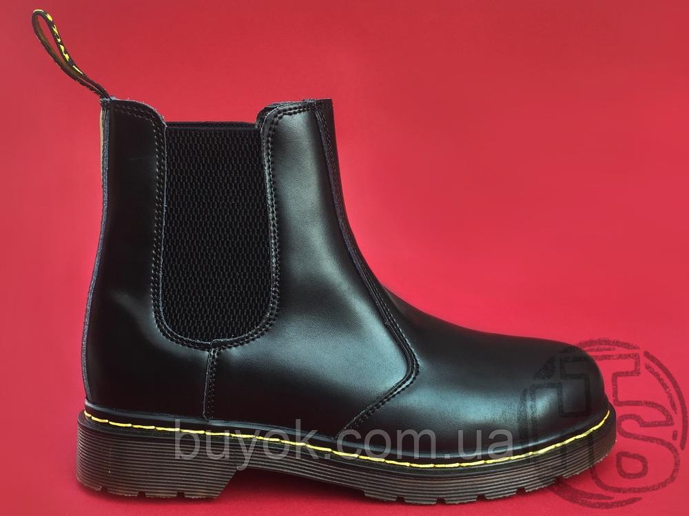 Женские ботинки Dr Martens Chelsea 2976 Yellow Stitch Black 22227001