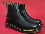 Женские ботинки Dr Martens Chelsea 2976 Yellow Stitch Black 22227001, фото 3