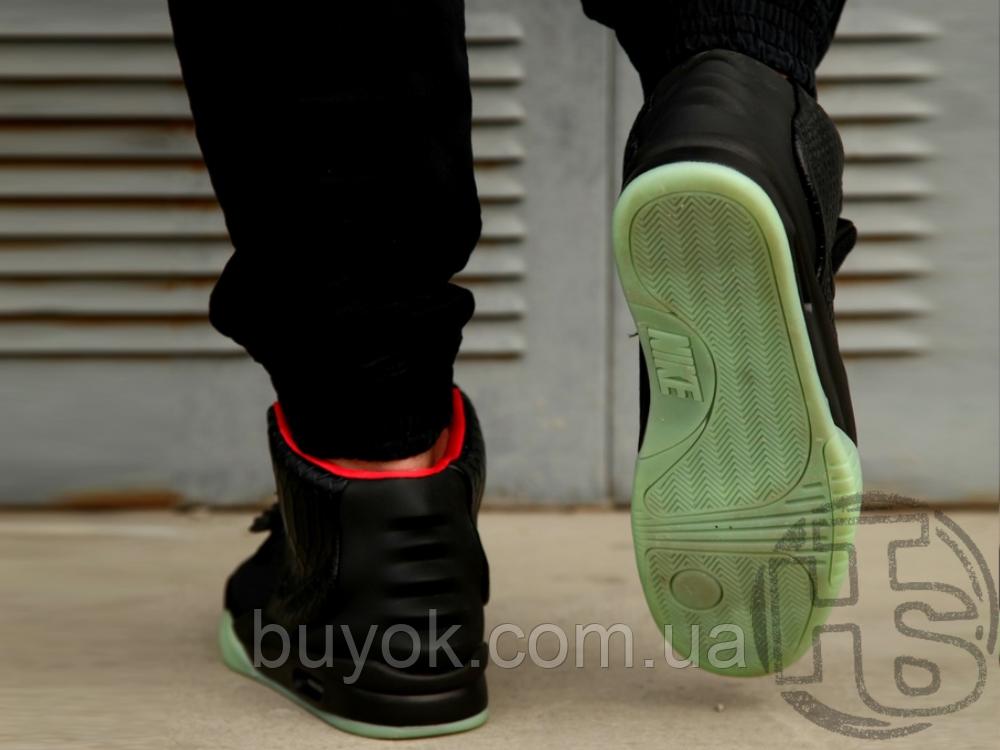 Мужские кроссовки Nike Air Yeezy 2 Black/Solar Red 508214-006