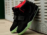 Мужские кроссовки Nike Air Yeezy 2 Black/Solar Red 508214-006, фото 2