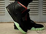 Мужские кроссовки Nike Air Yeezy 2 Black/Solar Red 508214-006, фото 3