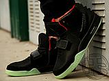 Мужские кроссовки Nike Air Yeezy 2 Black/Solar Red 508214-006, фото 4